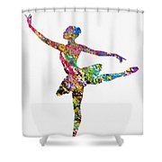 Ballet Dancer-colorful Shower Curtain