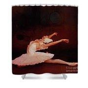 Ballet Dancer In White  Shower Curtain