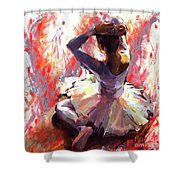 Ballet Dancer Siting  Shower Curtain
