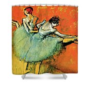 Ballet Dancers At The Barre Shower Curtain