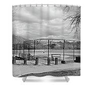 Ballfields Shower Curtain
