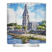 Ballina Cathedral On River Moy Shower Curtain