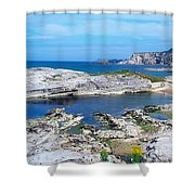 Ballintoy Harbour, Co Antrim, Ireland Shower Curtain