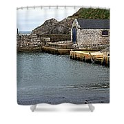 Ballintoy Quayside Shower Curtain