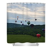 Ballon Festival  Shower Curtain