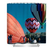 Ballon Launch Shower Curtain