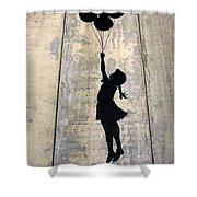 Ballons Girl Shower Curtain