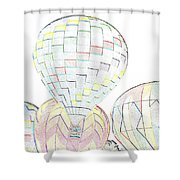 Balloon Day Shower Curtain