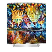 Balloon Festival Shower Curtain