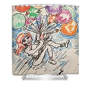 Balloon Flight  Shower Curtain