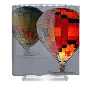Balloon Glow Shower Curtain
