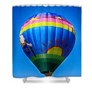 Balloon Over Wine Country Shower Curtain