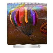 Balloon Race Shower Curtain