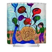 Balloon Sales Shower Curtain