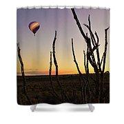 Ballooning At Sunset Shower Curtain
