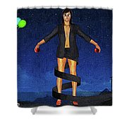 Balloons And Surrealism Shower Curtain