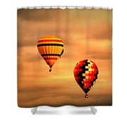 Balloons In The Morning Shower Curtain
