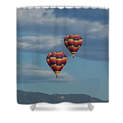 Balloons Over The Rockies Shower Curtain