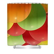 Balloons Up Shower Curtain
