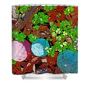 Balls And Clover Shower Curtain