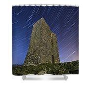 Ballybrit Castle Star Trails Shower Curtain