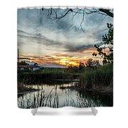 Balmorhea Sunset Shower Curtain