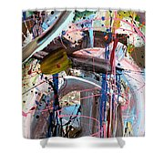 Balmy Nights Abstract Shower Curtain