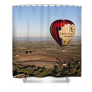 Baloon Riding  Over Temecula Ca Shower Curtain