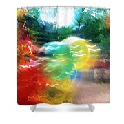 Baloons N Lights Shower Curtain