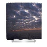 Baltic Sea, Sunset Shower Curtain