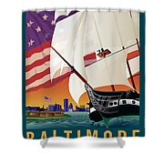 Baltimore - By The Dawns Early Light Shower Curtain