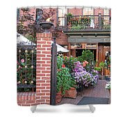 Baltimore Cafe          By  Jean Carton Shower Curtain