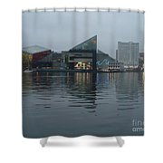 Baltimore Harbor Reflection Shower Curtain