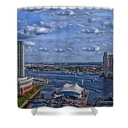Baltimore Maryland Inner Harbor Shower Curtain