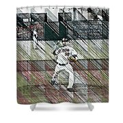 Baltimore Orioles Pitcher - Chris Tillman - Spring Training Shower Curtain