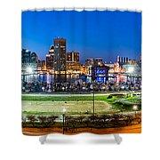 Baltimore Skyline Panorama At Dusk Shower Curtain