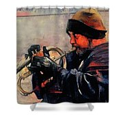 Baltimore Street Musician Shower Curtain