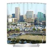 Baltimore's Inner Harbor Shower Curtain