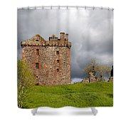 Balvaird Castle Ruins Scotland Shower Curtain