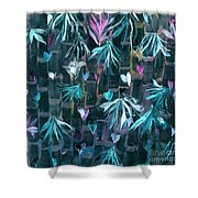 Bamboo And Butterflies Shower Curtain