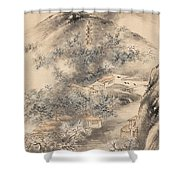 Bamboo And Plum In Early Spring Shower Curtain