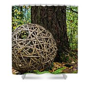 Bamboo Ball Shower Curtain