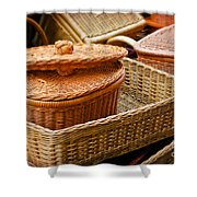 Bamboo Baskets Shower Curtain