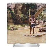Bamboo Boat Shower Curtain