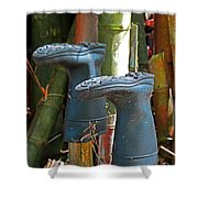 Bamboo Boots Shower Curtain