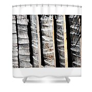 Bamboo Fence Shower Curtain