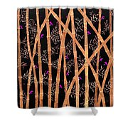 Bamboo Forest At Night Shower Curtain