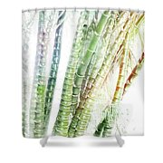 Bamboo Forest Watercolor Shower Curtain