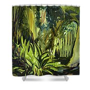 Bamboo Garden I Shower Curtain