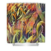 Bamboo Patterns Shower Curtain